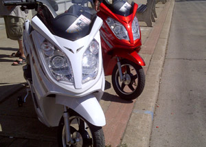 Hurricane Electric Bike Red and White