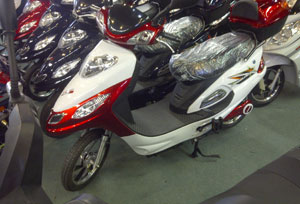 RS48 Electric Bike Red & White